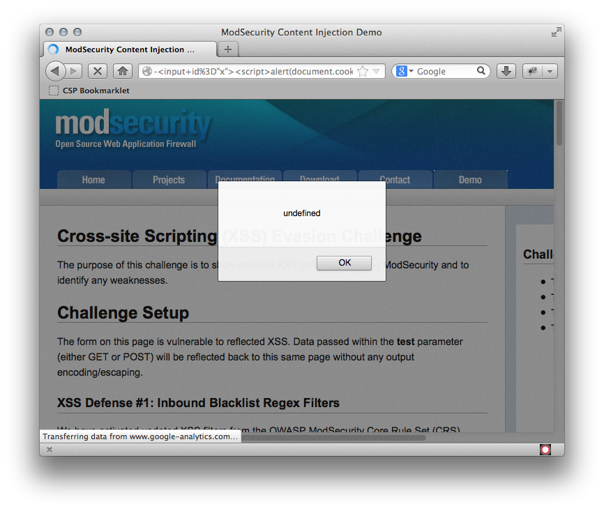 ModSecurity XSS Evasion Challenge Results | Trustwave