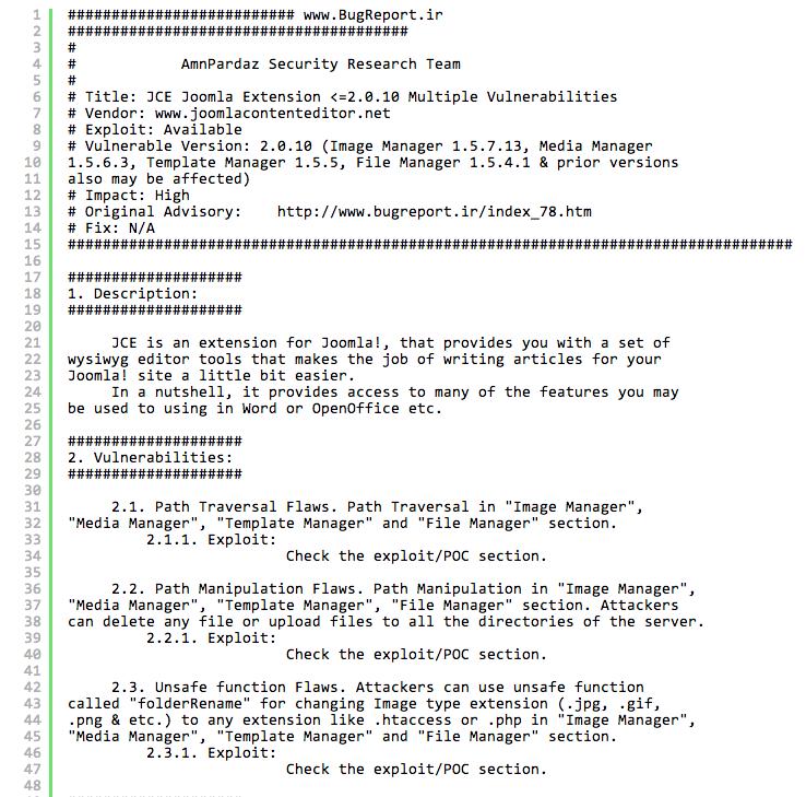 Honeypot Alert] JCE Joomla Extension Attacks | Trustwave