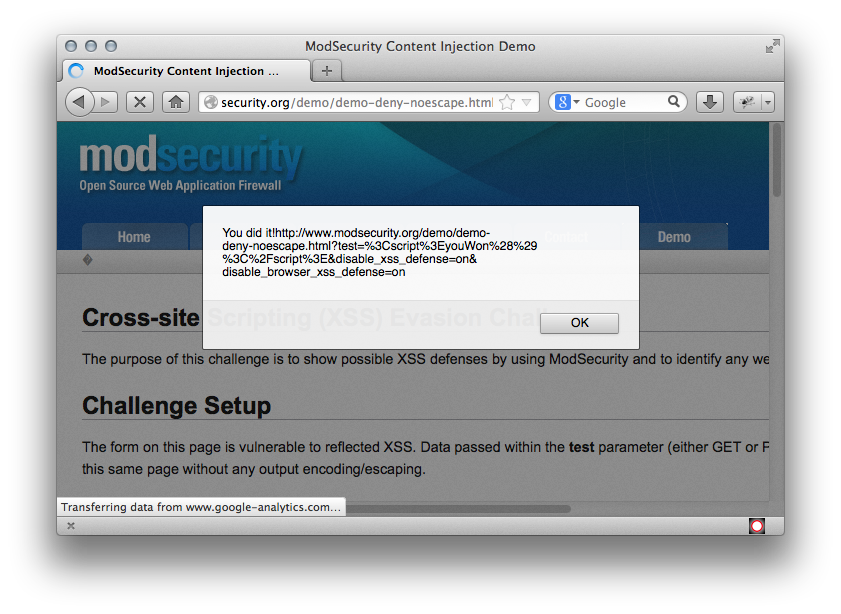 Announcing the ModSecurity XSS Evasion Challenge | Trustwave