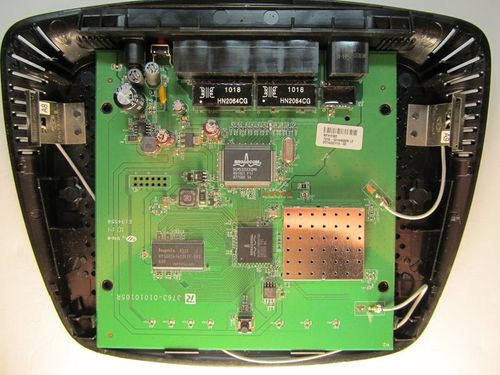 Linksys_E1000_board_top